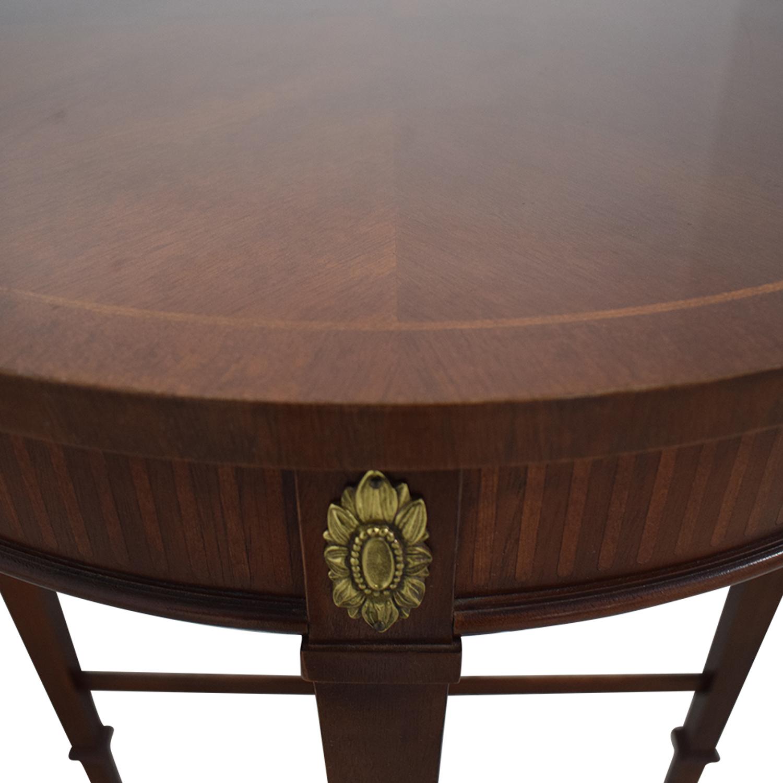 Baker Furniture Baker Furniture Floral Embellished Side Table second hand
