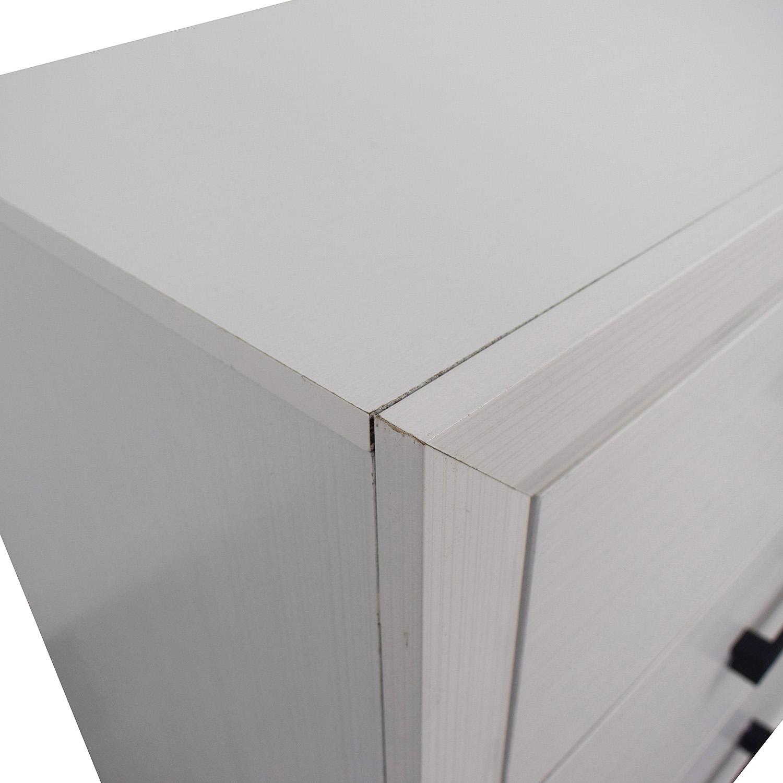 Modern White Six-Drawer Dresser Storage