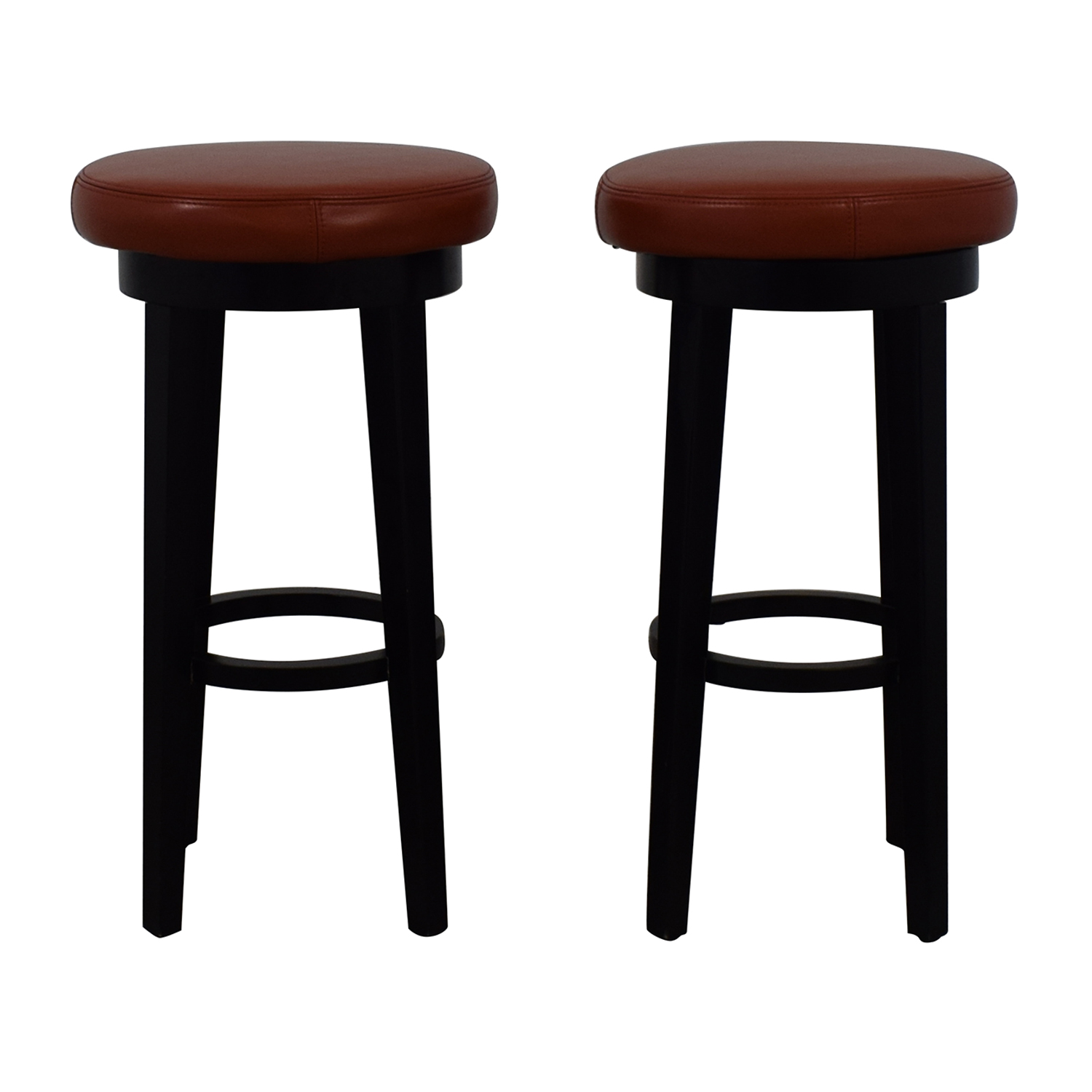 Grandin Road Grandin Road Orange Swivel Bar Stools Stools