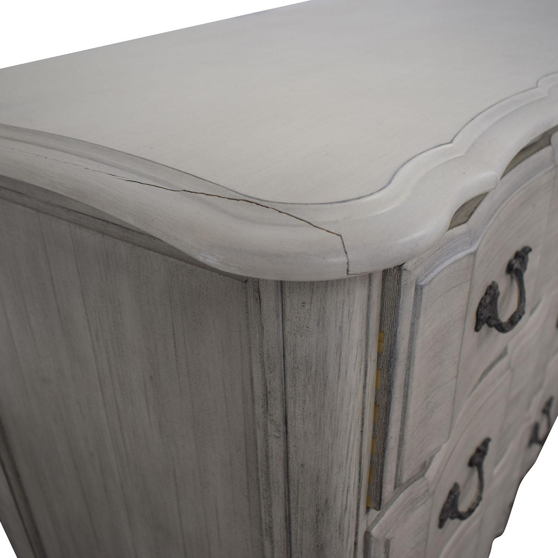 Restoration Hardware Marais Grey Six-Drawer Dresser / Storage