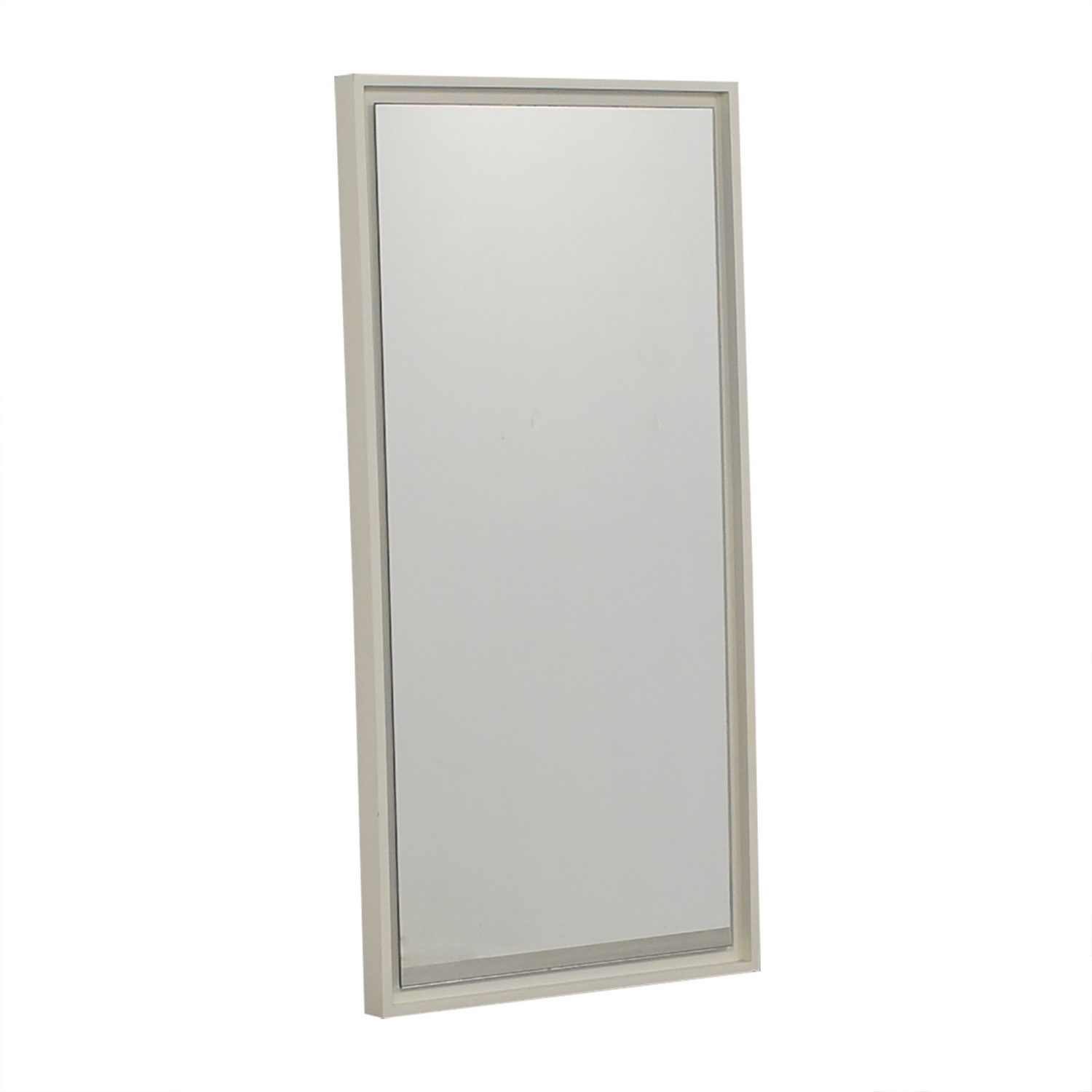 West Elm West Elm White Lacquer Floating Wood Wall Mirror discount