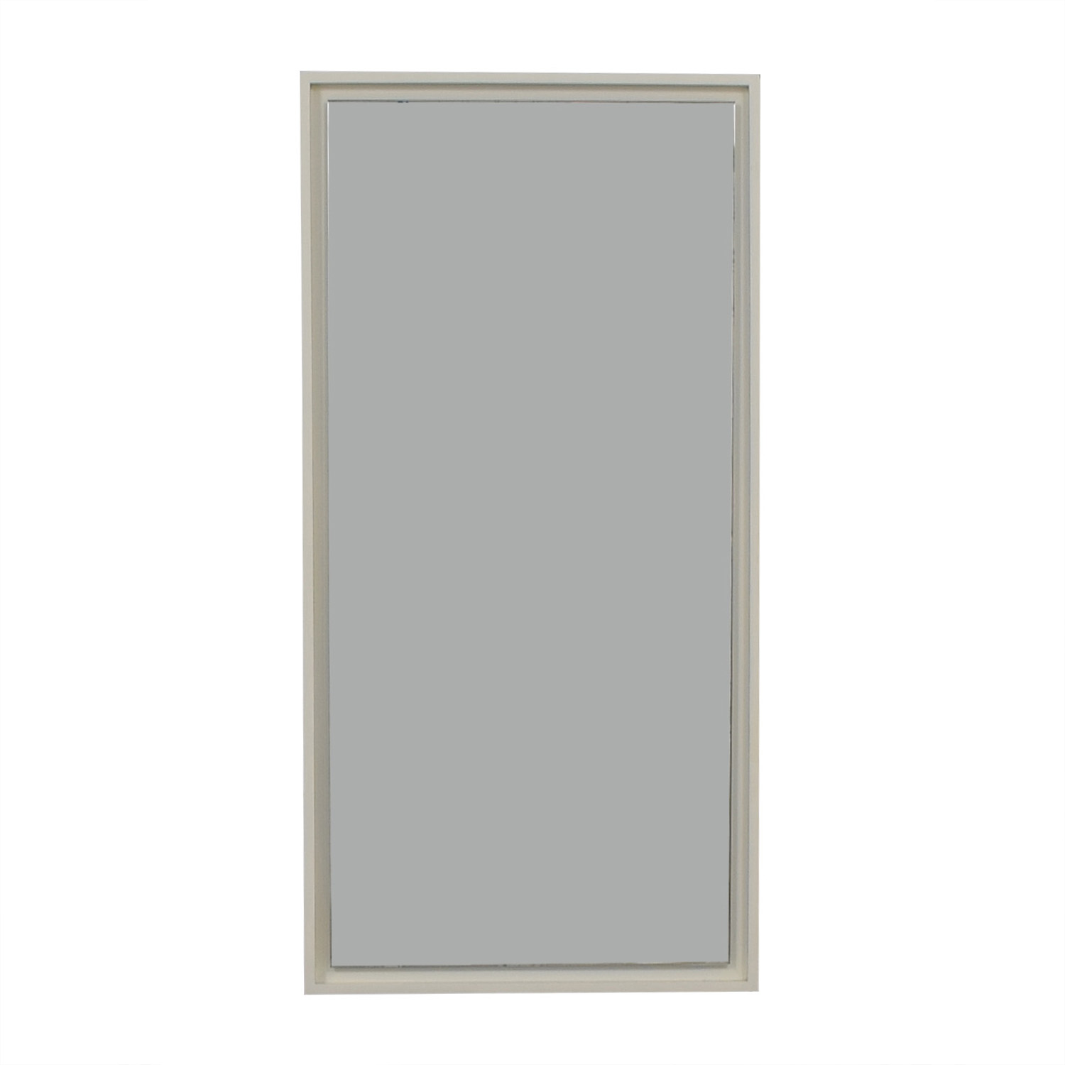 West Elm White Lacquer Floating Wood Wall Mirror