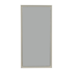West Elm White Lacquer Floating Wood Wall Mirror price