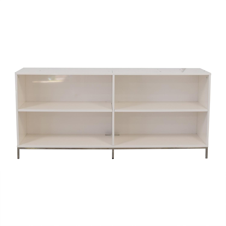 buy West Elm White Lacquer Storage Bookcase West Elm Media Units