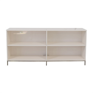 West Elm West Elm White Lacquer Storage Bookcase second hand