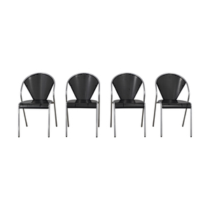 Manhattan Home Design Manhattan Home Design Protech Black Chairs dimensions