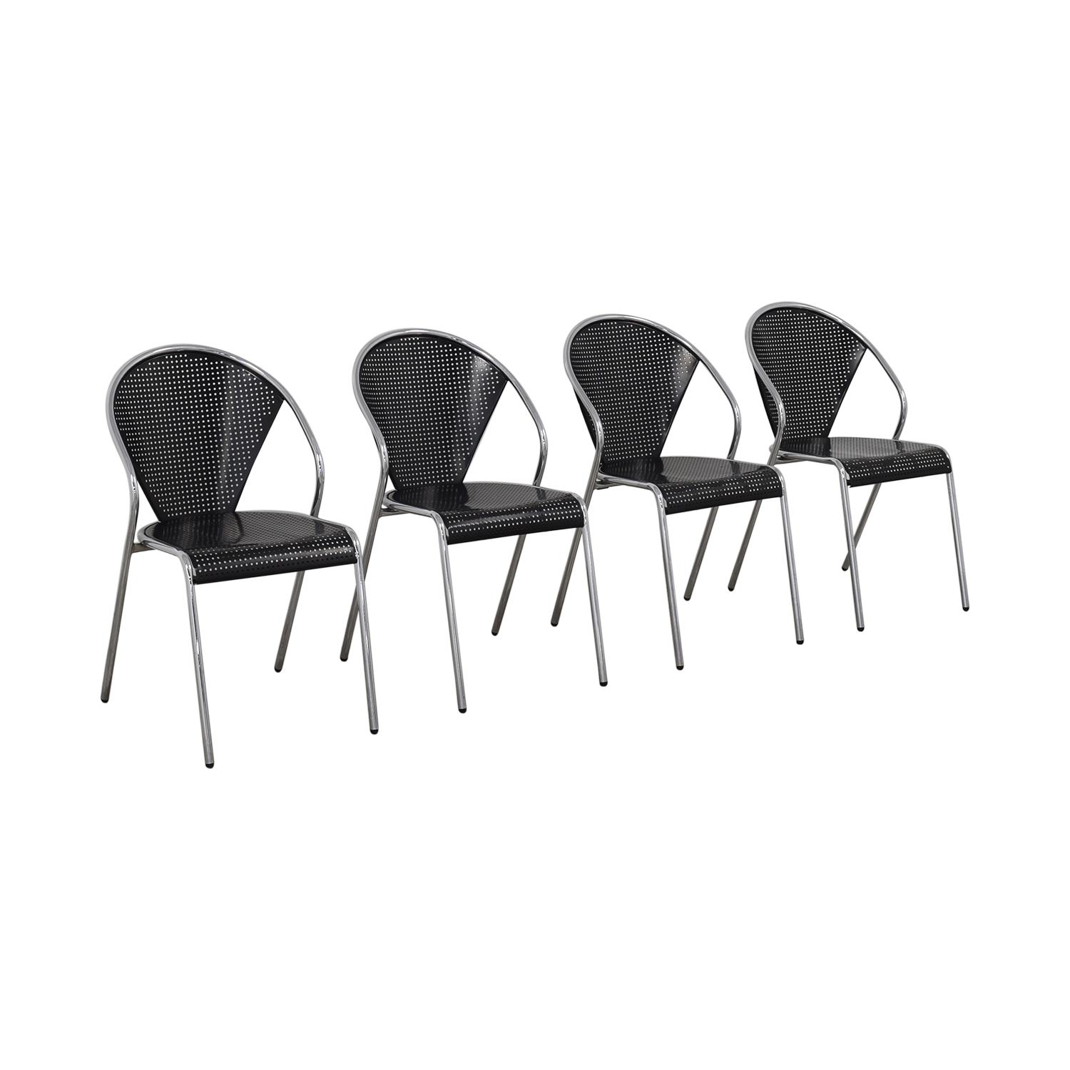 shop Manhattan Home Design Protech Black Chairs Manhattan Home Design