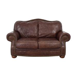 Ashley Furniture Ashley Furniture Brown Nailhead Two-Cushion Sofa