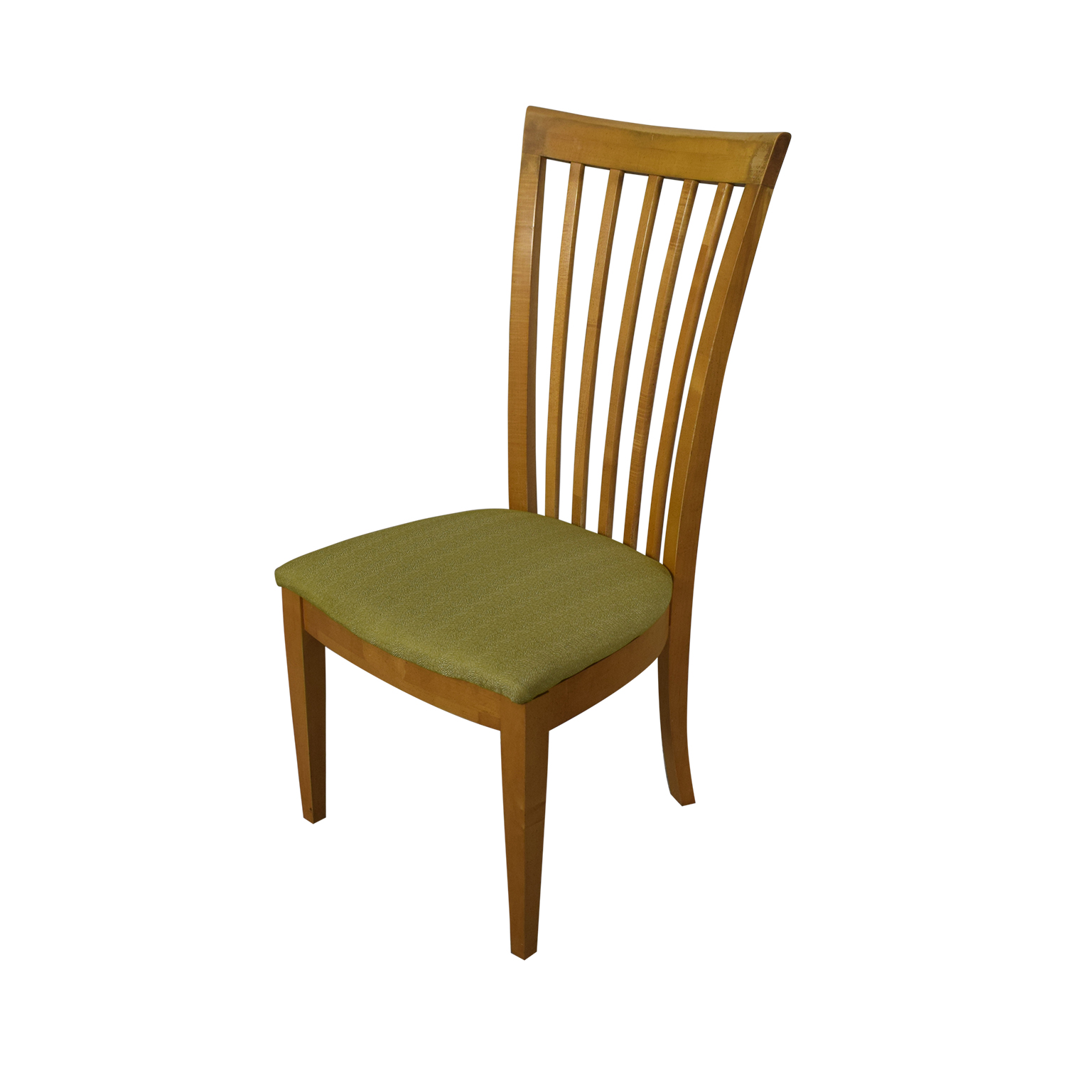 Stanley Furniture Natural Dining Set with Green Upholstered Chairs with Glass Protective Top dimensions