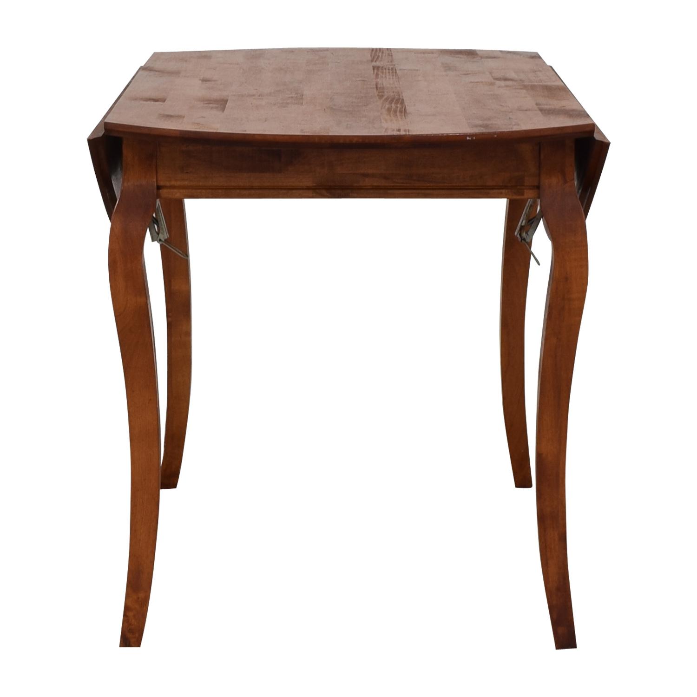 Folding Leaf Wood Dining Table sale