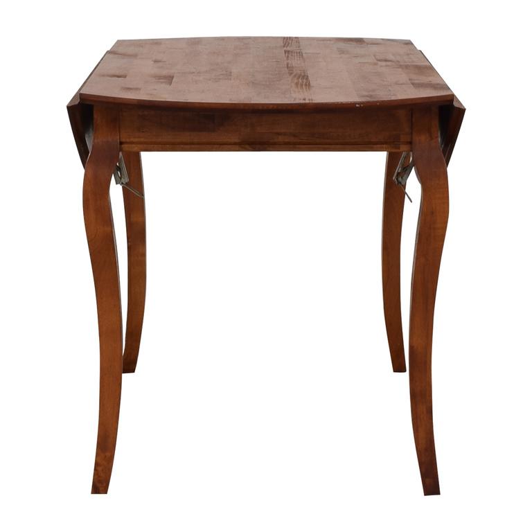 shop Folding Leaf Wood Dining Table