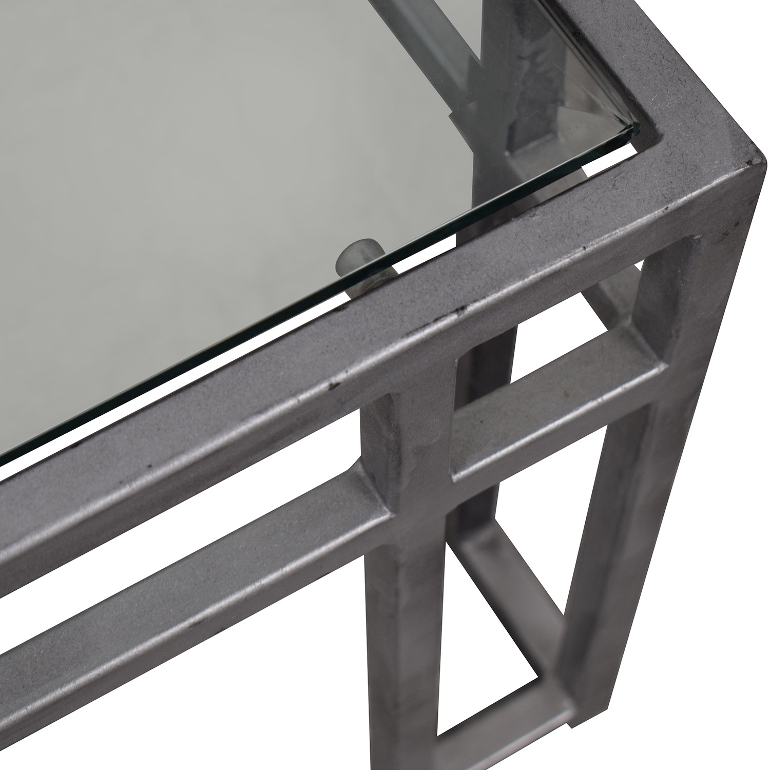 Glass Top Coffee Table gray