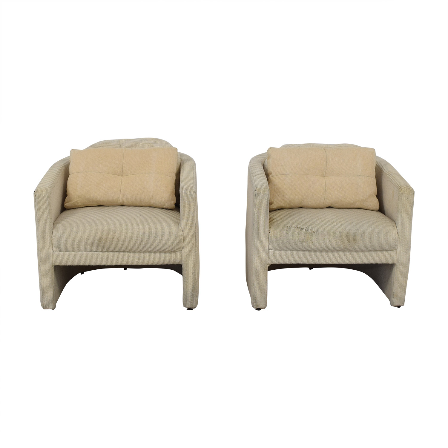 Cream Upholstered Accent Chairs
