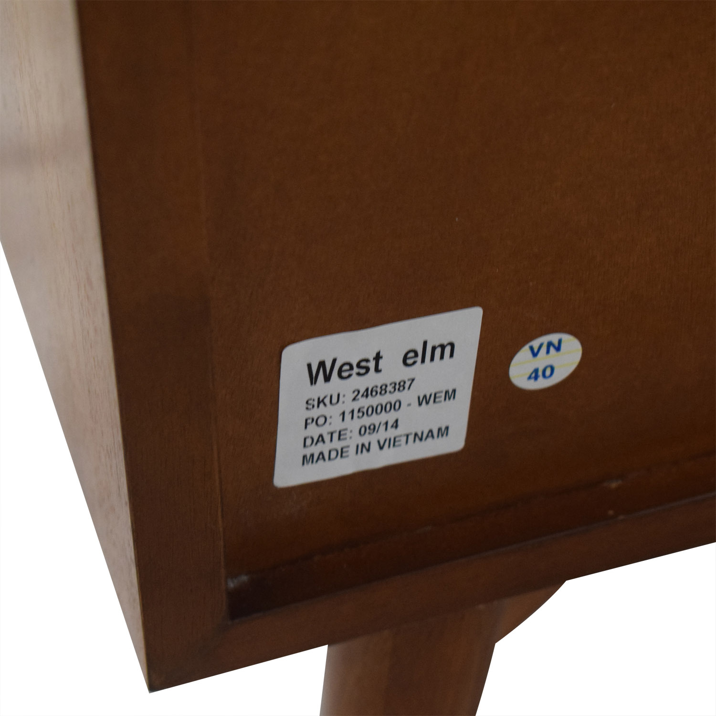 West Elm West Elm Mid-Century Three-Drawer Dresser white and brown
