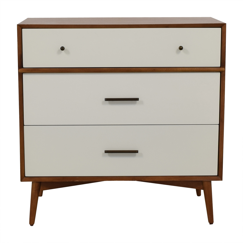 buy West Elm Mid-Century Three-Drawer Dresser West Elm