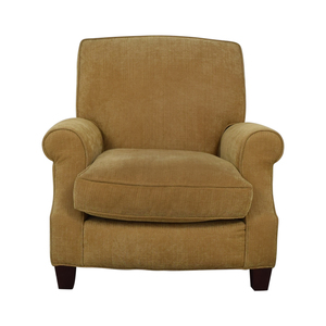 Crate & Barrel Crate & Barrel Yellow Gold Upholstered Accent Chair for sale