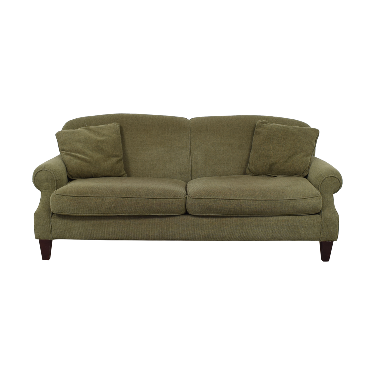 buy Crate & Barrel Crate & Barrel Green Two-Cushion Sofa online