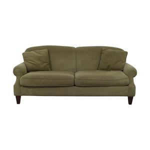 Crate & Barrel Crate & Barrel Green Two-Cushion Sofa second hand
