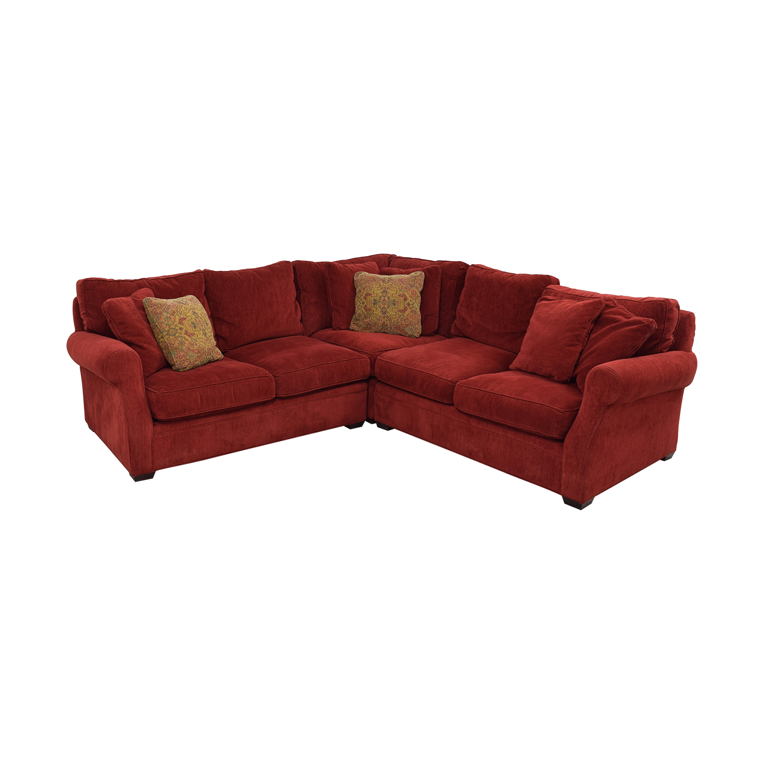 Retrospect Ruby Red L-Shaped Sectional sale