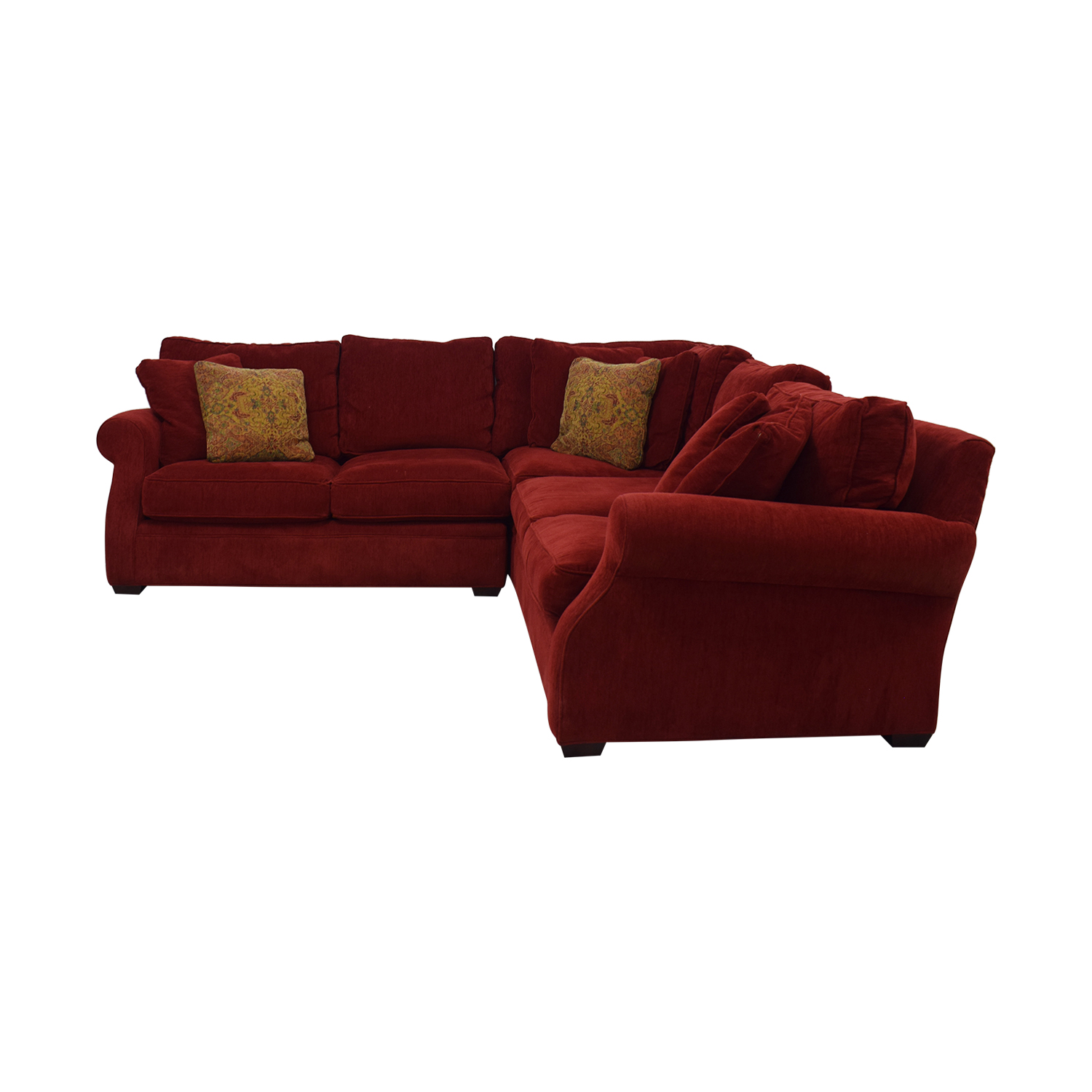 buy Retrospect Ruby Red L-Shaped Sectional  Sectionals