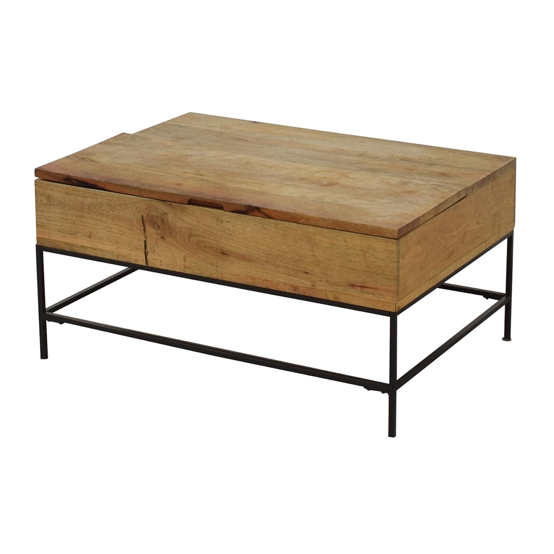 buy West Elm Industrial Storage Coffee Table West Elm Coffee Tables