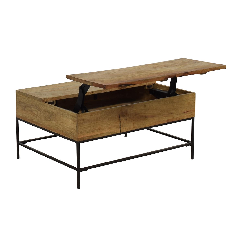 West Elm West Elm Industrial Storage Coffee Table nyc