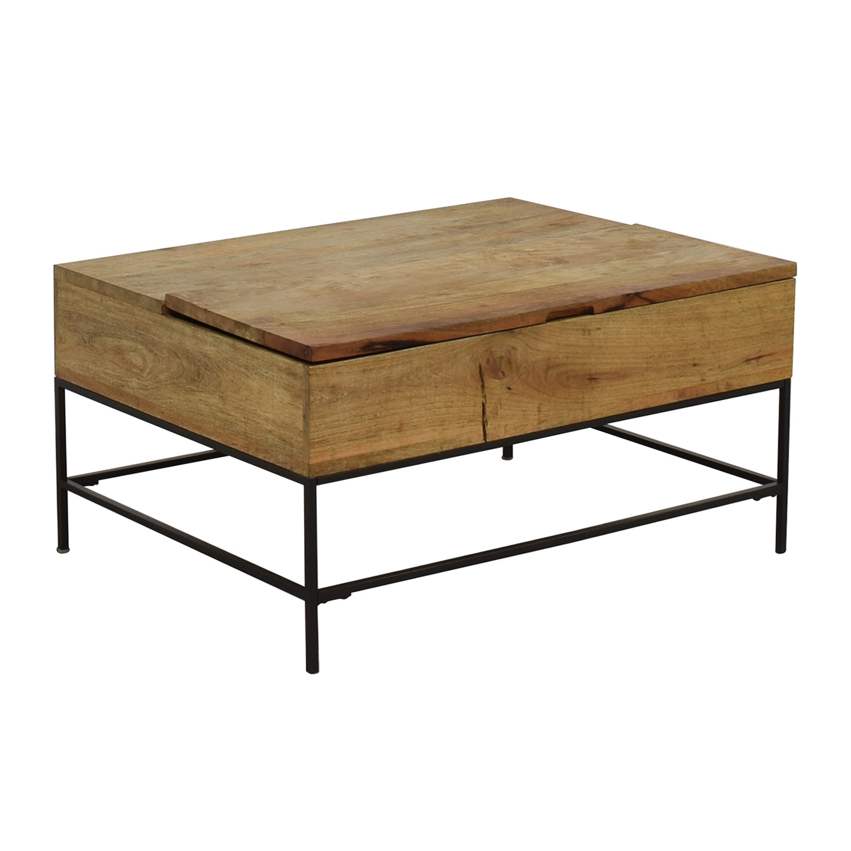 shop West Elm Industrial Storage Coffee Table West Elm Tables