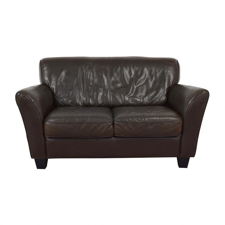 shop Natuzzi Natuzzi Brown Two-Cushion Couch online
