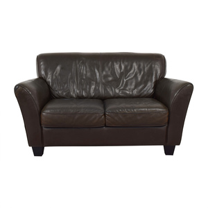 Natuzzi Natuzzi Brown Two-Cushion Couch discount