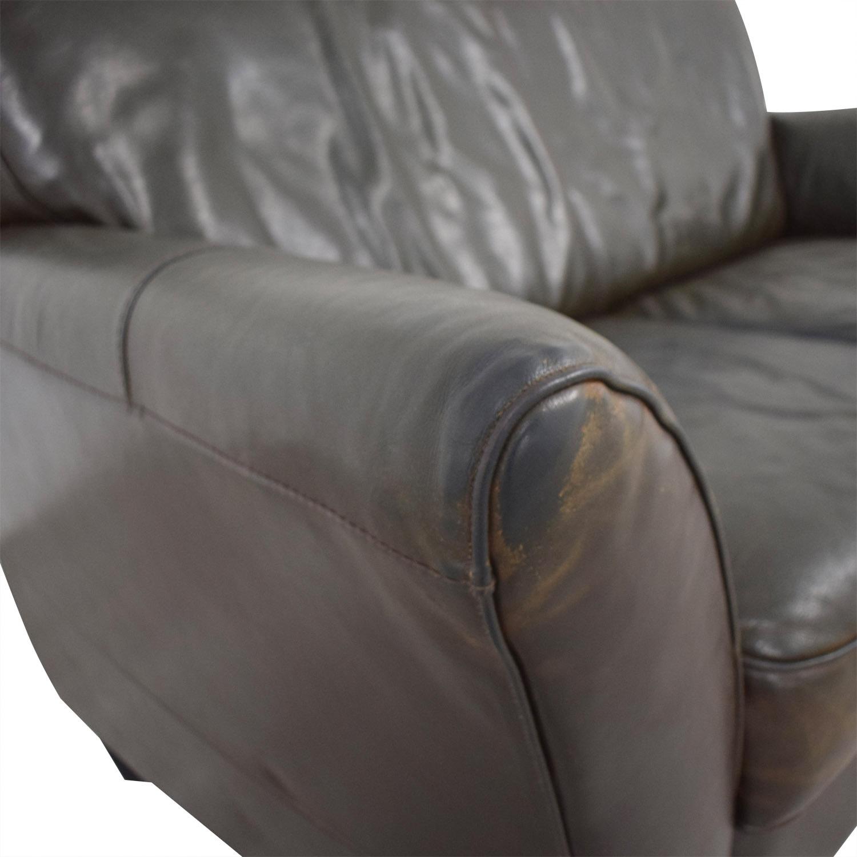 Natuzzi Brown Two-Cushion Couch Natuzzi