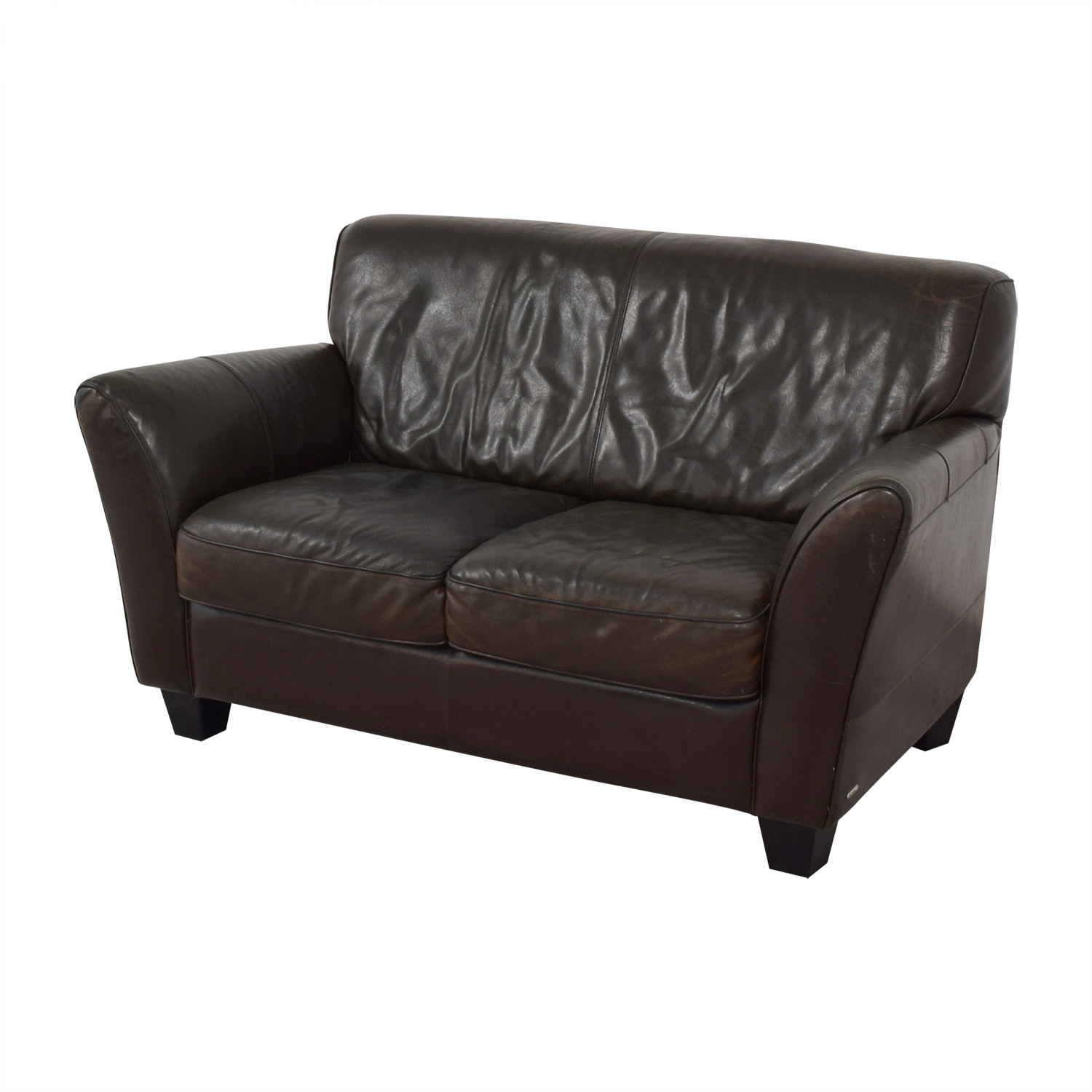 Natuzzi Natuzzi Brown Two-Cushion Couch price
