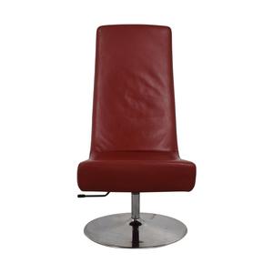 buy BoConcept Aero Style Red Office Swivel Chair BoConcept