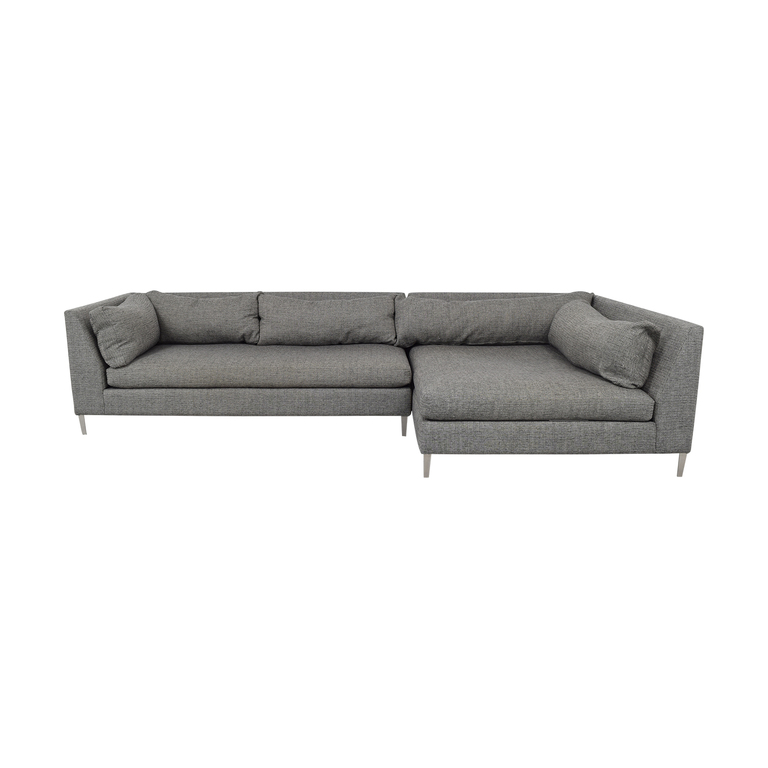 CB2 CB2 Decker Two Piece Sectional Sofa second hand