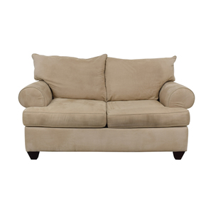 Raymour & Flanigan Raymour & Flanigan Beige Two-Cushion Loveseat price