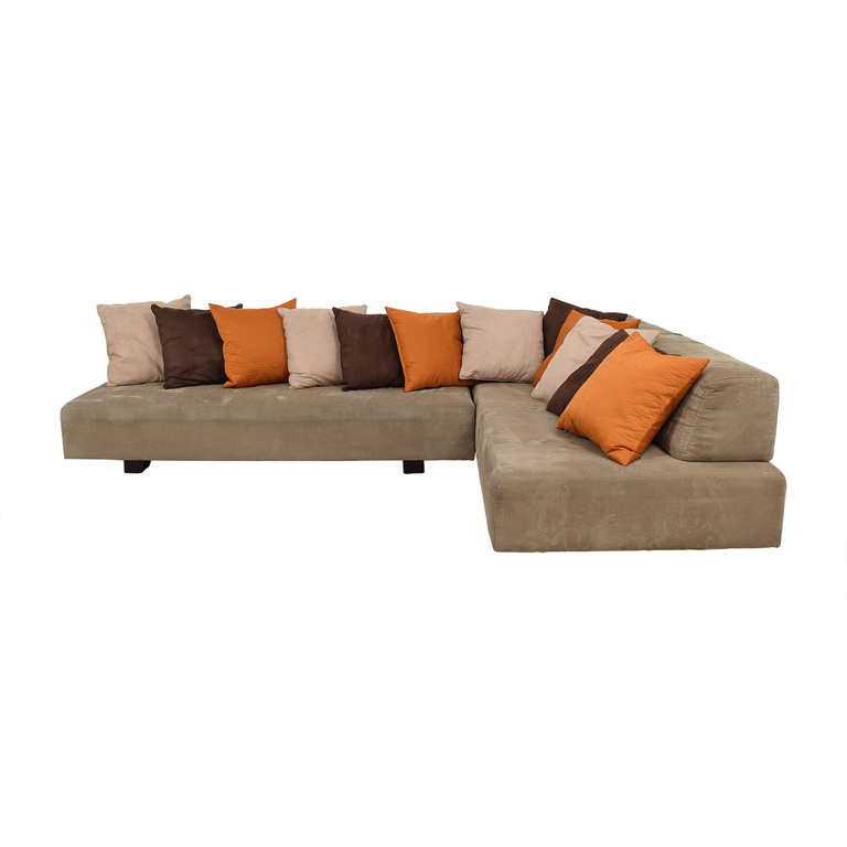 West Elm West Elm Tillary Beige L-Shaped Sectional used