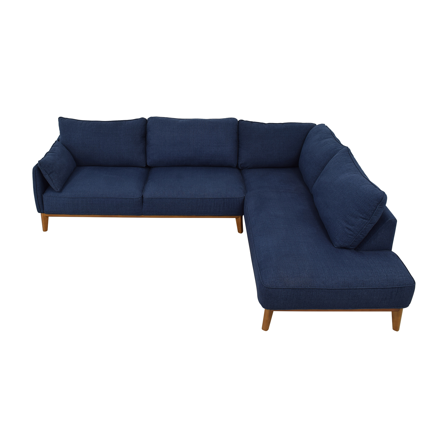 Macy's Jollene Blue Two-Piece Sectional / Sectionals
