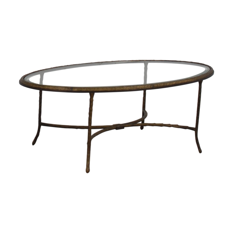 Oval Glass Top Coffee Table dark bronze/glass