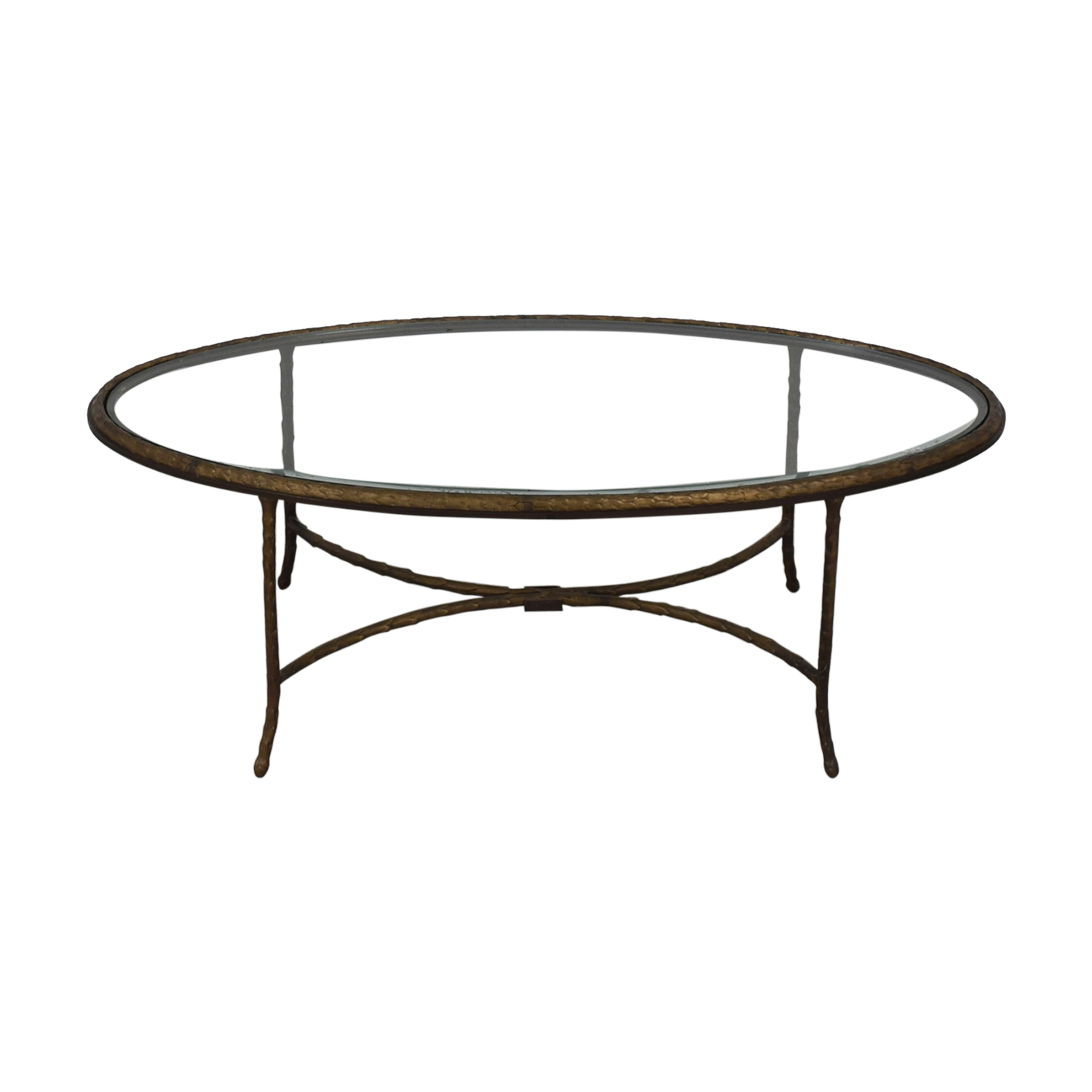 Oval Glass Top Coffee Table used