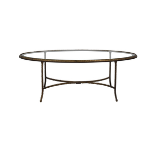 Oval Glass Top Coffee Table price