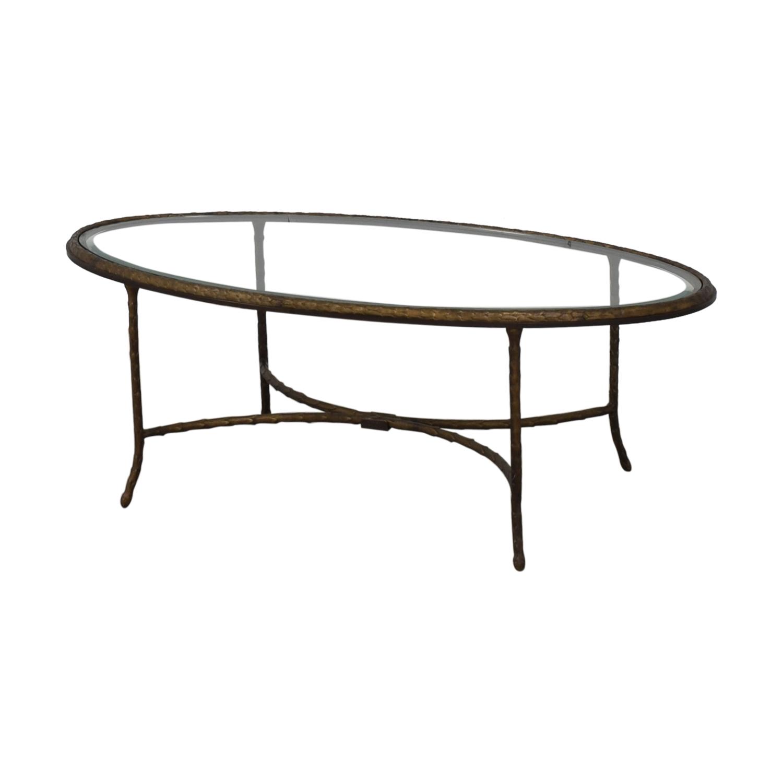 Oval Glass Top Coffee Table nj