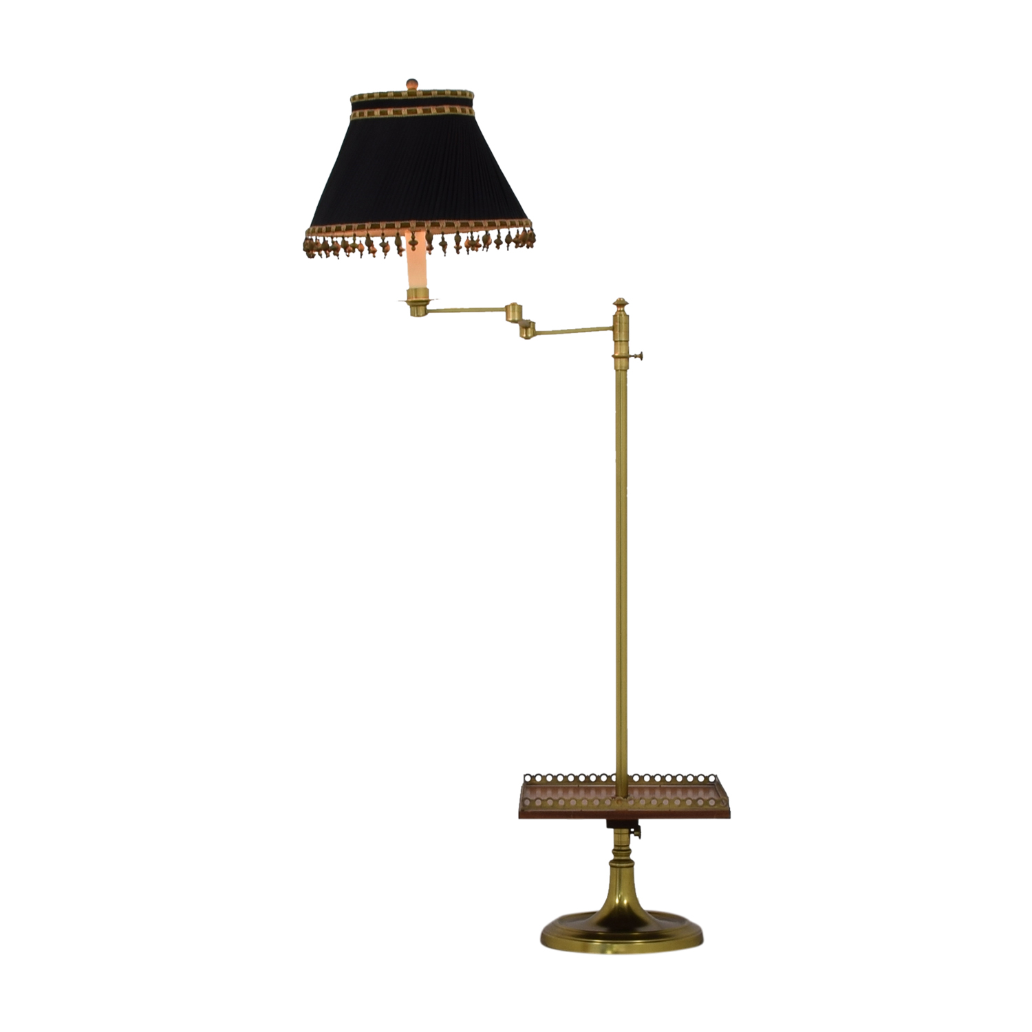 Brass Table Lamp with Tray used