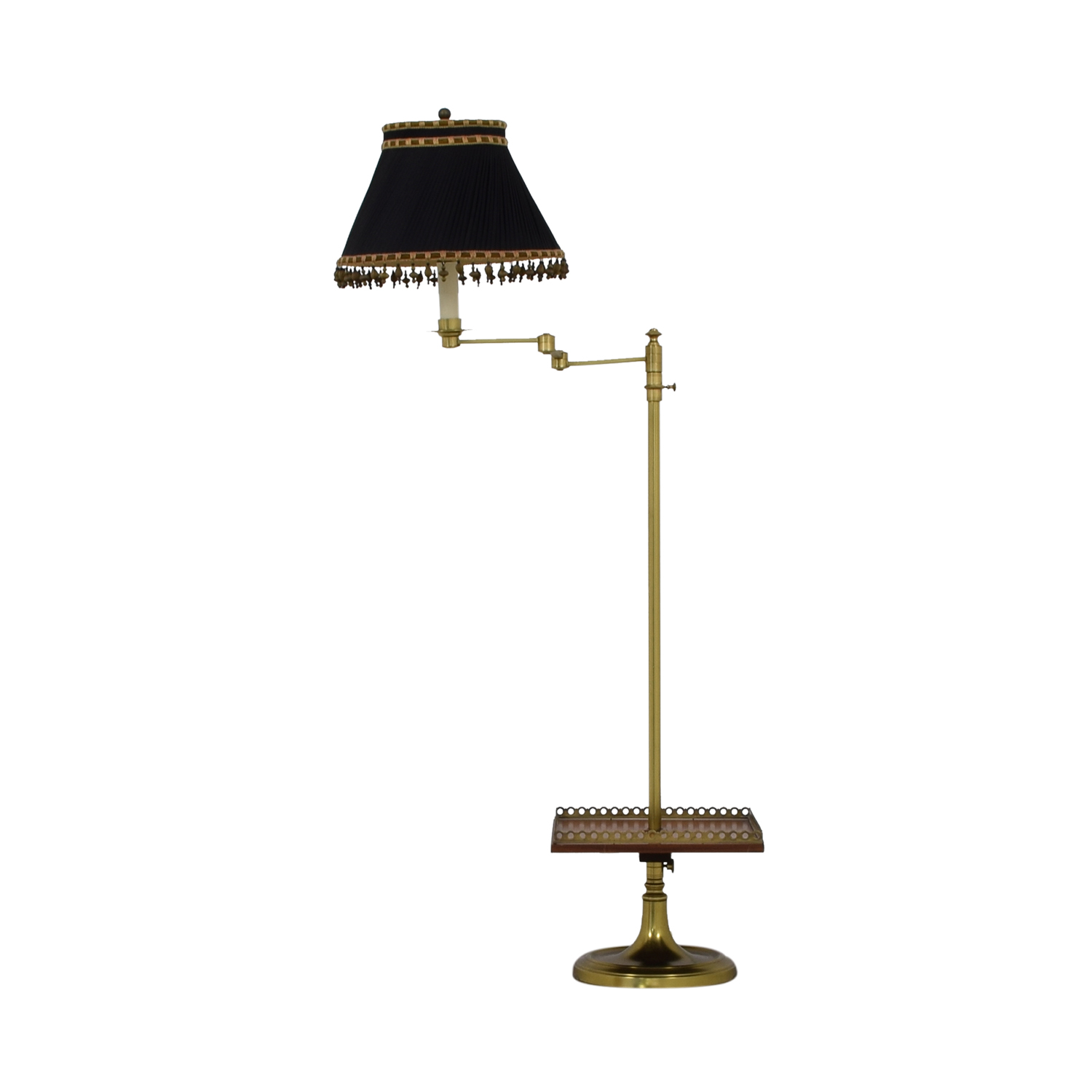 Brass Table Lamp with Tray