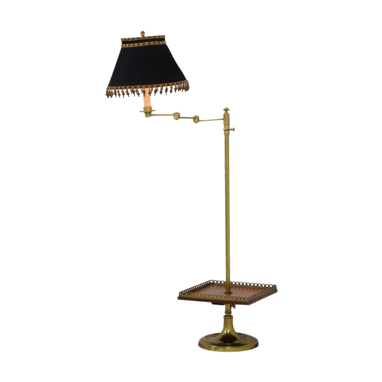 Brass Table Lamp with Tray / Lamps