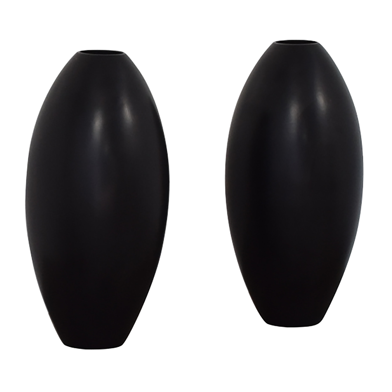 Sleek Modern Black Vases