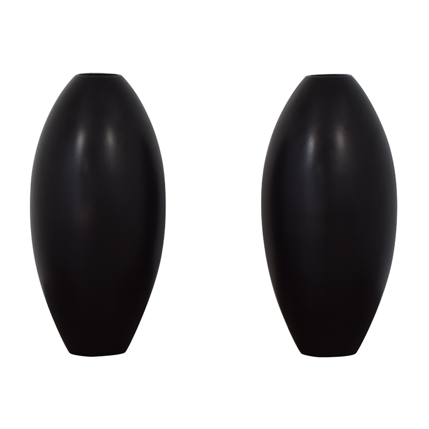 shop Sleek Modern Black Vases  Decor