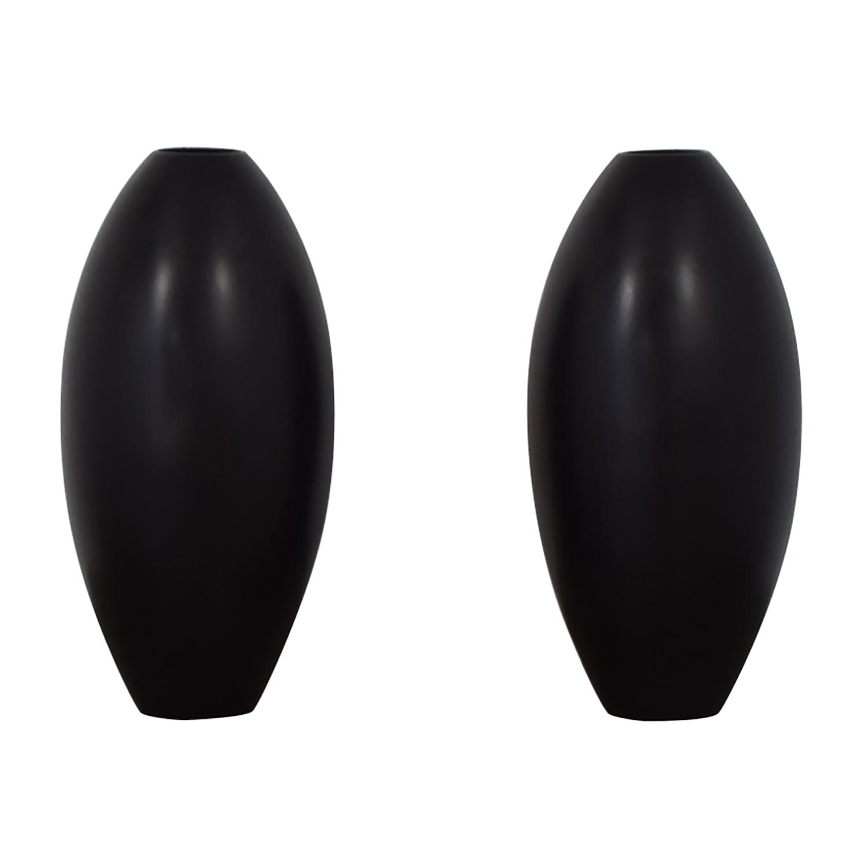 Sleek Modern Black Vases black