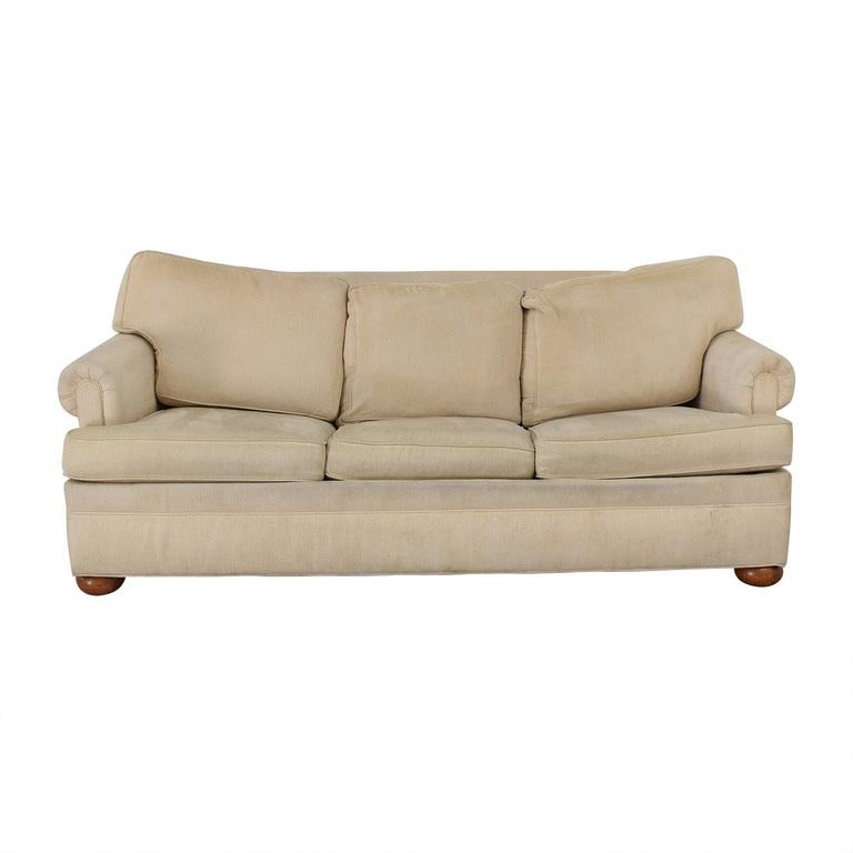 Ethan Allen Ethan Allen Off White Three-Cushion Queen Convertible Sofa coupon