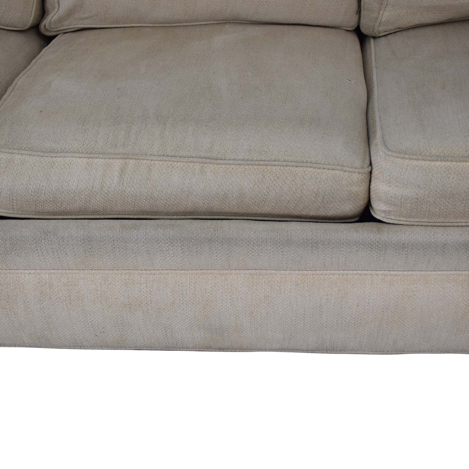 shop Ethan Allen Ethan Allen Off White Three-Cushion Queen Convertible Sofa online