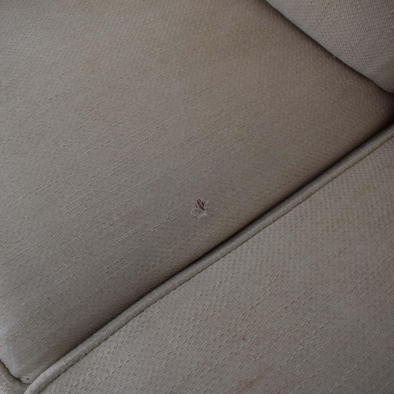 Ethan Allen Ethan Allen Off White Three-Cushion Queen Convertible Sofa for sale