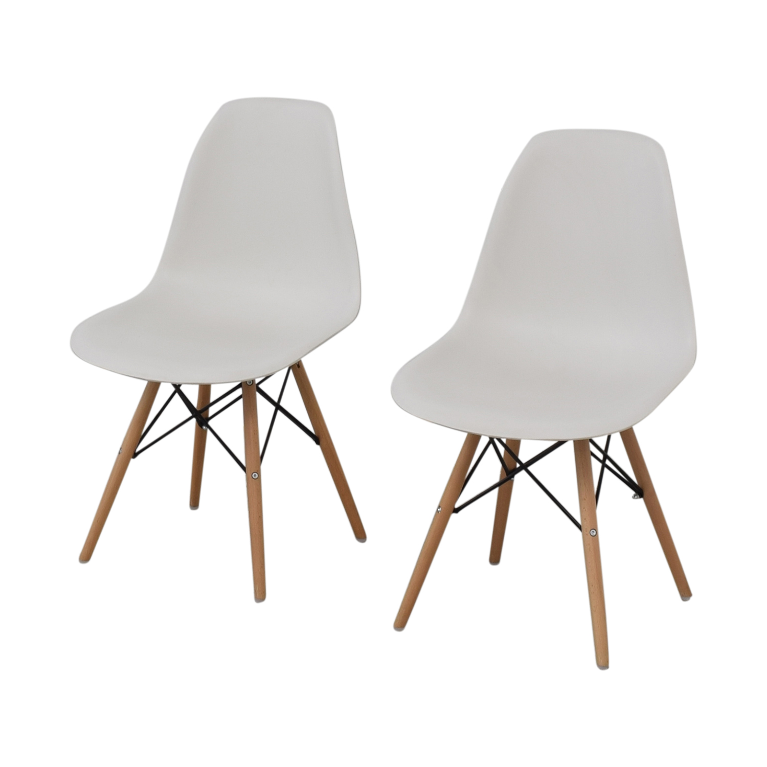 buy Wayfair Eames Replica White Dining Chairs Wayfair Dining Chairs